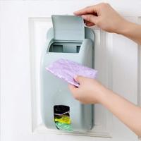 파스텔 부착식 비닐봉투 정리함