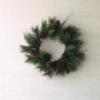 Hm2024 솔방울 파인리스55cm 크리스마스 재료