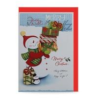 크리스마스카드/성탄절/트리/산타 선물배달 (FS110-3)
