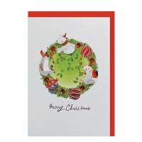 크리스마스카드/성탄절/트리/산타 숲속크리스마스(FS1017-5)