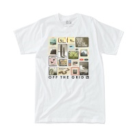 [히피트리] Collage Tee - White