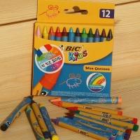 [BIC] 키즈 컬러링 색연필..빅 mini 왁스 크레용 12색 HA162-1