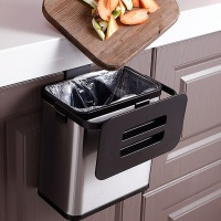 스테인레스 걸이형 음식물 쓰레기통 3L