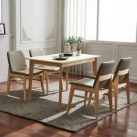 고무나무 4인식탁+의자 세트 FN701-6