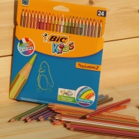 [BiC] 빅 키즈 컬러링 24색 색연필-Tropicolors 스트라이프 HA164-2
