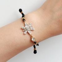 [선물포장] 데칼코마니 크리스탈 탄생석 매듭팔찌