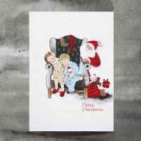 크리스마스카드/성탄절/트리/산타 살금살금 산타 FS207-4