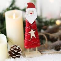 양모 스탠딩 인형장식 (산타)
