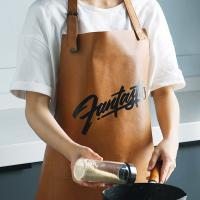 아트피셜레더 카페 주방 허리 방수 원피스 앞치마