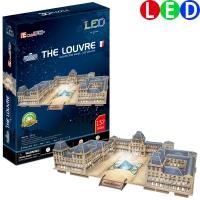[3D퍼즐마을][L517h] 루브르 박물관-LED, 프랑스 (The Louvre)