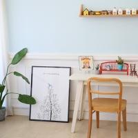 마이아트 테이블 파랑새L / 접이식 테이블 다용도상