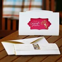 금장 카네이션 액자카드- 18k금장액자카드+봉투+용돈봉투