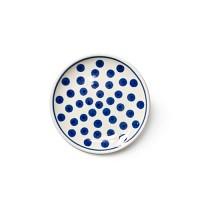 [폴란드그릇 AT]262/6102 블루땡땡이 컵받침/소서