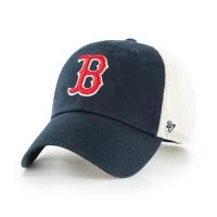 MLB모자 보스톤 레드삭스 네이비메쉬 레드로고