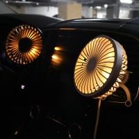 [1+1] [무아스] 차량용 브릿지 LED 무드등 선풍기