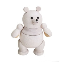 [MUFUN DESIGN] WOODEN FIGURES POLAR BEAR