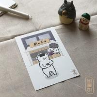 도로보우네코 주먹밥 가게 고양이 일러스트 엽서