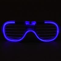 LED 와이어점등 셔터쉐이드안경 [블루]