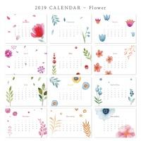 [2019 CALENDAR] Flower