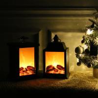 겨울에도 따뜻한느낌 벽난로 조명장식 [2type]
