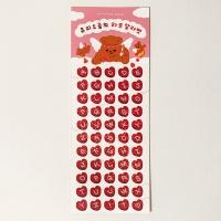 큐피드곰의 하트 알파벳 홀로그램 스티커
