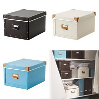 FJALLA box with lid/ 수납함 세트 (27*36*20)
