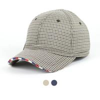 [디꾸보]체크 숏캡 라이더 볼캡 모자 ET668