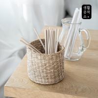 [생활공작소] 대나무 섬유 빨대 20개입