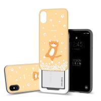 아이폰XS/X 슬라이더 냥냥이 벚꽃 카드케이스 옐로우