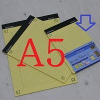 전자책으로 만들어 공유하는-옥스포드 A5 40매의 스마트 리갈패드 5권 A783-2s