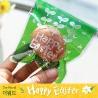 부활절 달걀 1구 접착비닐 (25개)_새싹(그린)