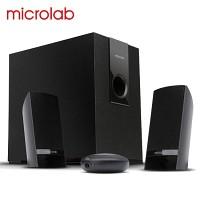 Microlab 스피커 M-119 (2.1채널 / 스마트폰 & MP3 등 외부입력 단자 / 헤드폰 단자 / 고밀도 MDF / 베이스 조절 / 유선리모컨)