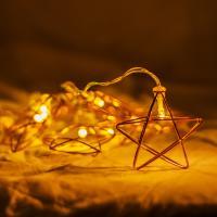 로즈골드 별 와이어 전구
