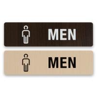 화장실 표지판 알림판 표찰 남성- MEN 우드 사인