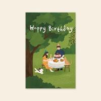 [카드] Happy birthday (2020) 캘리그라피 카드