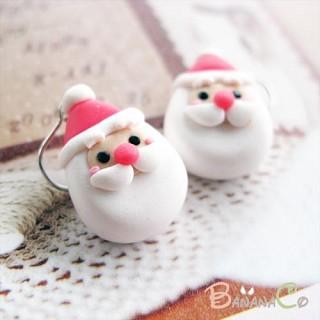 스마일 산타 귀걸이