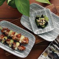 일본식기 헤링본 사각접시