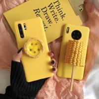 아이폰 특이한 입체 타르트 옥수수 커플 실리콘케이스