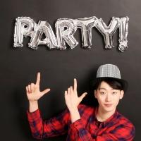 이니셜은박풍선 PARTY! (실버)