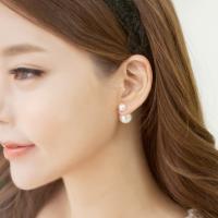 [아르뉴] 스노우 더블 진주 귀걸이