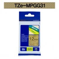 [부라더정품]라벨테이프 TZe-MPGG31(12mmx 4M) (골드패턴바탕/검정글씨)