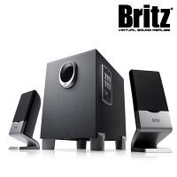 [브리츠] 스피커 BR-1100V Plus (2.1채널 / USB메모리 & SD카드지원 / FM Radio / AUX입력 3.5mm 단자 / MDF)