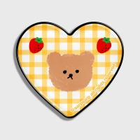 Dot strawberry check-yellow(hearttoktok)