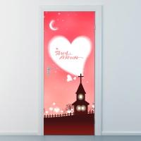 nces077-사랑을 주는 교회-현관문시트지