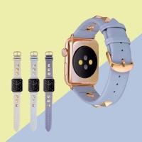 애플워치 4/3/2 가죽밴드 캐주얼 스트랩 시계줄 1039
