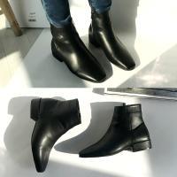 [애슬릿]안감 기모 발 편한 여성 앵클 부츠 3cm