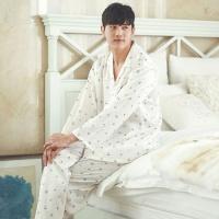 [쿠비카]아기자기 쿠킹 프린팅 긴팔 남성잠옷 M012