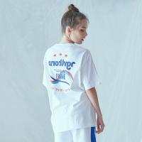 믹스 컬러 티셔츠 (화이트)