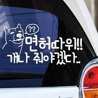 면허따위 개나 - 초보운전스티커(428)