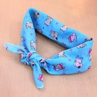 쁘띠 스카프 - 손수건 (치마입은 코끼리)